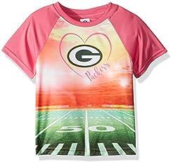 NFL Green Bay Packers Girls Short-Sleeve...