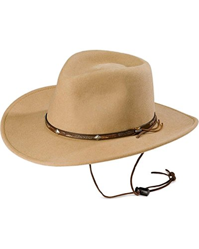 Stetson Men's Mountain View Crushable Wool Felt Hat Sand X-Large