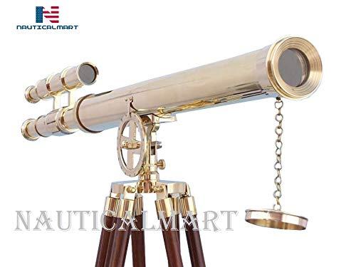NauticalMart Floor Standing Brass Griffith Astro Telescope 64