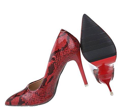Spitze Pumps   Stiletto Absatz   Abendschuhe Lack   High Heels Stilettos   Party Pumps Schuhe   Abendschuhe Pumps   Schuhcity24 Rot