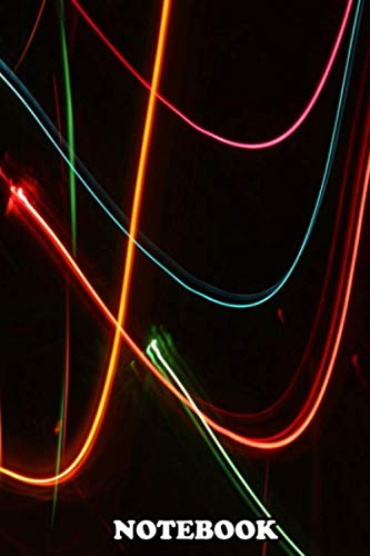Notebook: Abstract Motion Lights Abstract Christmas Light Blurred , Journal for Writing, College Ruled Size 6