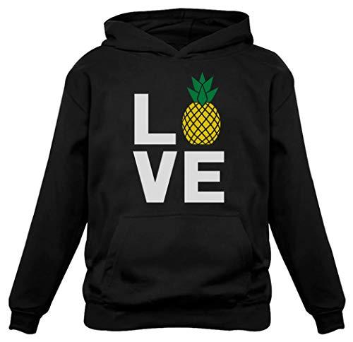 (TeeStars - I Love Pineapples - Best Gift for Pineapple Lovers Women Hoodie Medium Black)