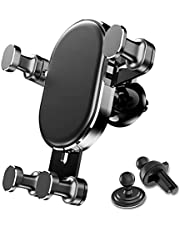 Car Air Vent Phone Holder,2in1 Car Phone Holder Mount for Car, Gravity Automatic Locking Universal Vehicle Cell Phone Mount Cradle Compatible with iPhone 12/12 Pro/12 Pro Max/11 Samsung S21/S20 etc