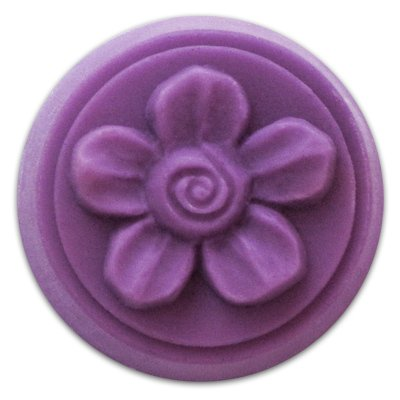 Spiral Flower Small Round Soap Mold - Makes 0.65 oz Bars. Milky Way. Melt & Pour, Cold Process