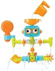 Infantino Sensory Plug & Play loodgieterset – badkuiprobot voor baby's vanaf 10 maanden – met 16 verschillende onderdelen om in elkaar te zetten – meerkleurig