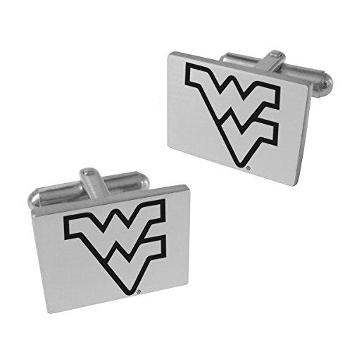 West Virginia Mountaineers Stainless Steel Original Style Cufflinks ()