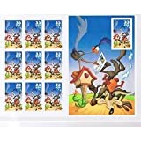 USPS Road Runner and Wile E Coyote USPS 33 Cent 60 Stamp Full Sheet