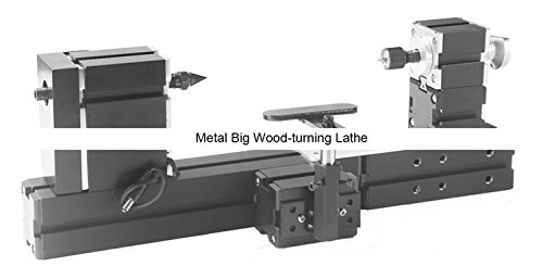 TZ20003MBP 60W Electroplated Metal Big Wood-turning Lathe/60W,12000rpm large wood working lathe by MUCHENTEC