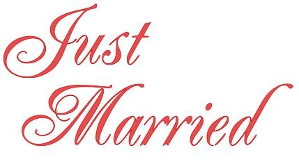 Just Married Vinyl Decal Sticker product image