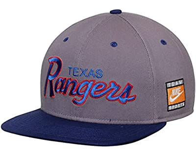 NIKE Texas Rangers Cooperstown Collection SSC Throwback Adjustable Snapback Hat from Nike Baseball