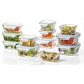 Glasslock - Premium Glass Storage and Food Prep Set, Oven and Freezer Safe - 24 Pieces
