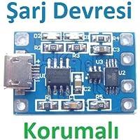 Robotekno Lityum Pil Şarj Devresi Micro USB TP4056 Batarya Şarj Modülü
