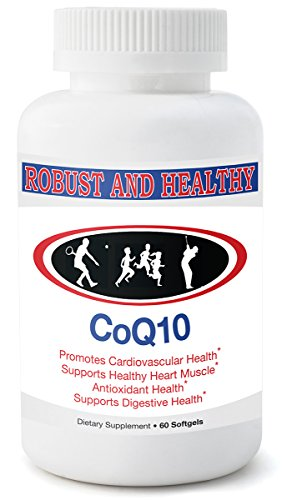 Ultra Absorption CoQ10 Supplement by Robust & Healthy Highly-Soluble Coenzyme Q10 Promotes Healthy Cardiovascular System, Eyes, Skin-Increases Energy & Weight Loss Made in USA