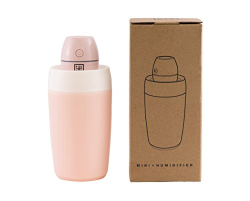 USB Humidifier - Portable Mini Humidifier, Car Humidifier - Skin Care / Respiratory Health / Cool Mist Air Gentle & Safe for Baby and Asthma Sufferers (PINK) by PurePlus