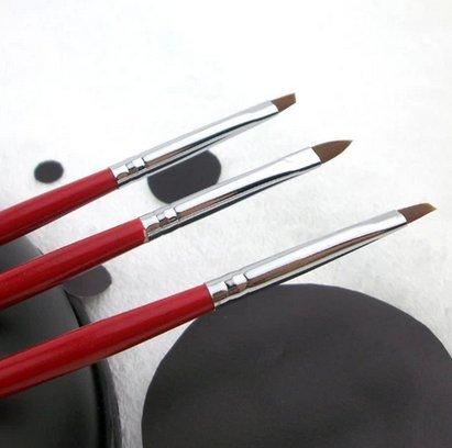 3Pcs UV gel pen Nail Art Design Painting Polish Brushes Dotting Drawing Pen
