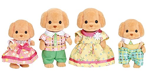 Calico Critters Toy Poodle Family -