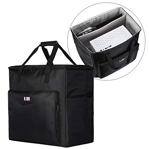 BUBM Desktop Gaming Computer PC Carrying Case Travel Storage Carrying Bag for Tower Case, Monitor(Up to 24 inch), Keyboard and Mouse-Black