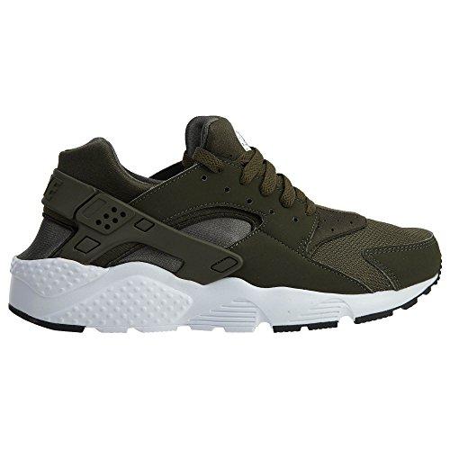 Nike Huarache Run Bg 654275030, Deportivas cargo khaki
