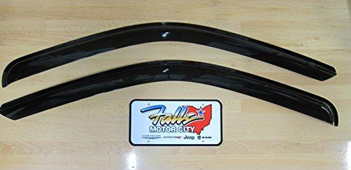 Dodge Ram 1500-5500 Set of Two Tinted Side Window Air Deflectors OEM