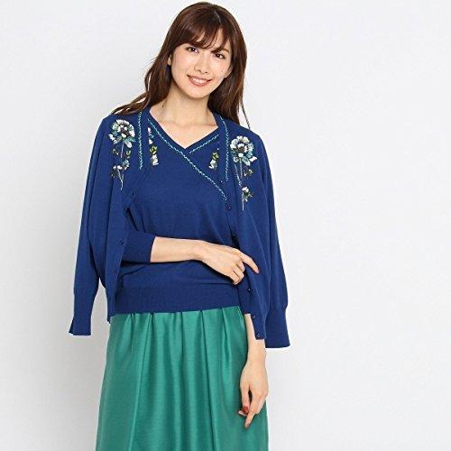スーナウーナ(SunaUna) 【洗える】ミラーガーデン刺繍カーディガン