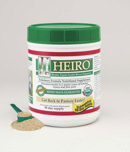 Heiro Healthy Equine Horse Insulin Resistant Rescue Organicals 90 Day Supply and Free Informational Booklet by Heiro