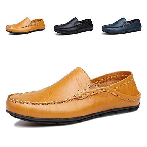 ENLEN&BANNA British Style Casual Shoes for Men Driving Shoes Slip On Loafers Men Boat Shoes Men Oxford Slip On Sneakers