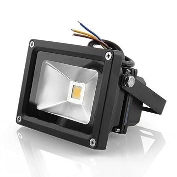 amzdeal® Foco Proyector LED 10W, Blanco frío- foco proyector de ...