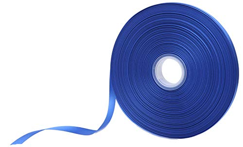"""Double Face Satin Ribbon 3/8"""" Wide x 100 Yard Roll (300 FT Spool), Available in 20 Vibrant Colors for Choice (Royal Blue)"""