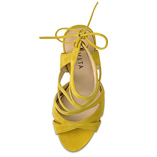 Rauleder Emma Sandalette Evita Gelb Shoes Damen I6qc1xTv