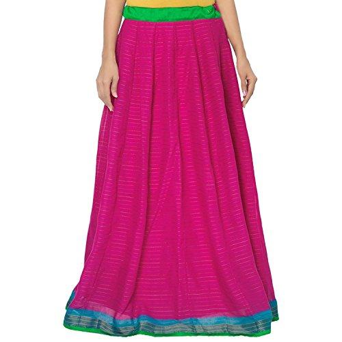Indian Handicrfats Export Admyrin Women Purple Cotton Skirt