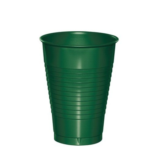 Hunter Green Plastic Cups 16oz Solid 240ct
