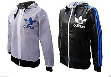 Adidas Originals Schwarz Blau Kapuzen Herren Reversibel
