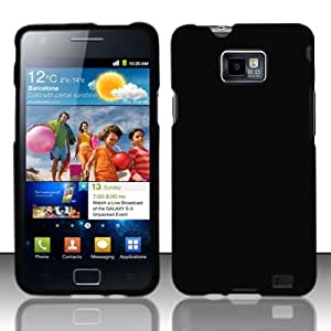 For Samsung Galaxy S II i777 / i9100 (AT&T) Rubberized Cover - Black