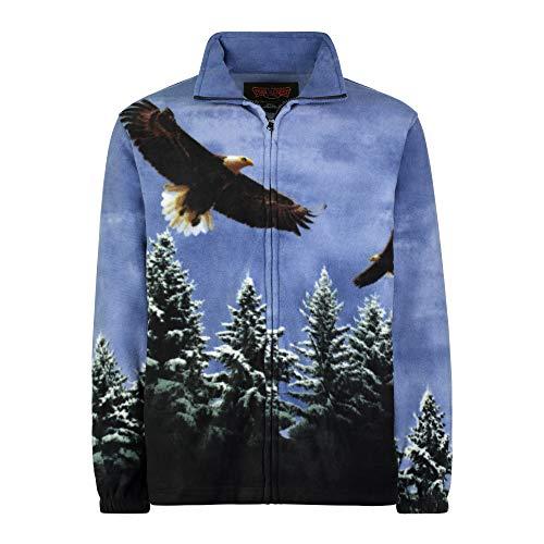 Men's Women's Sweater Jacket Full Zip Fleece American Eagle Sweatshirt Wildkind ()
