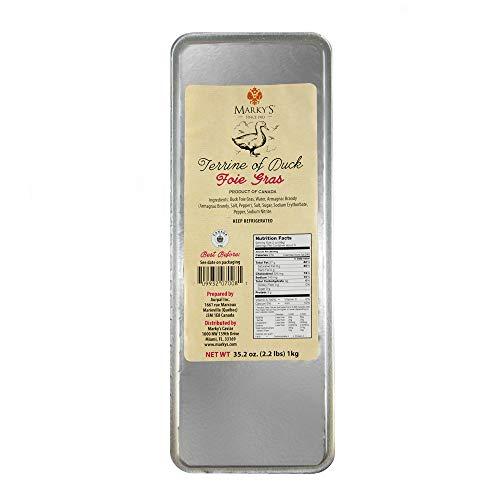 Markys Caviar Duck Foie Gras Terrine  2.2 lbs.  Duck Liver Pate Foie Gras