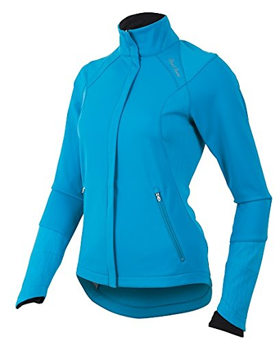 Pearl Izumi Women's Fly Softshell Run Jacket Algiers Blue XS & Glove Bundle (Run Shell Fly Soft)