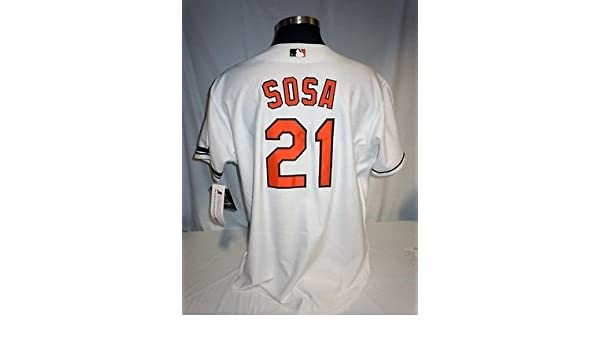 548c24c458a Sammy Sosa Baltimore Orioles Authentic Majestic Jersey w McKay Memorial  Armband at Amazon s Sports Collectibles Store