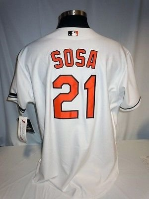 the latest ce350 31ca2 Sammy Sosa Baltimore Orioles Authentic Majestic Jersey w ...