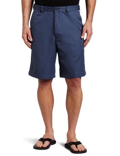 Haggar Men's Cool 18 Gabardine Hidden Expandable Waist Plain Front Short,Cadet Blue,44