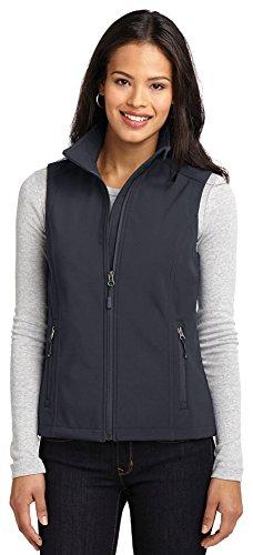 Vest Womens Authority Port (Port Authority Ladies Core Soft Shell Vest, Battleship Grey, X-Large)