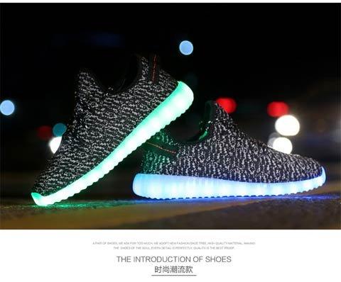Sportive Dogeek Luminosi Uomo Led Con Rosso Sneakers Scarpe Luci Accendono q68qwxaP
