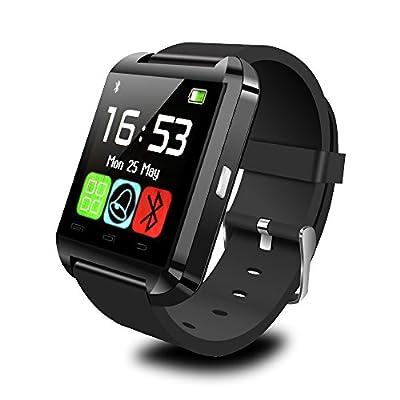 IRULU Bluetooth Smart Watch WristWatch Phone For Android IOS, Samsung, iPhone, LG Smartphone Black