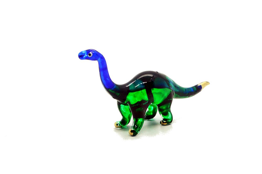 Tiny Handcraft Dinosaur Hand Blown Glass Figurines (Brachiosaurus)