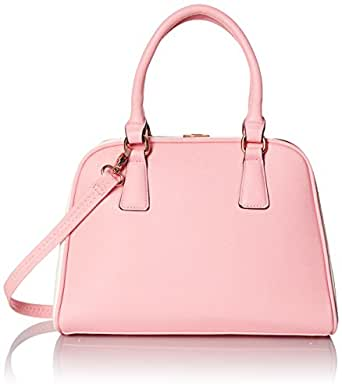 MG Collection Structured Satchel Doctor Top Handle Bag, Pink, One Size
