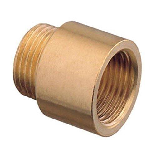 1 Bsp Pipe Thread Extension Female x Male Cast Iron Brass - 10mm Long by Ravani