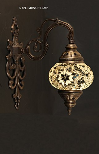 Sconce Mosaic Light (Mosaic Sconce,Mosaic Lamp,Turkish Mosaic Sconce,Sconce)