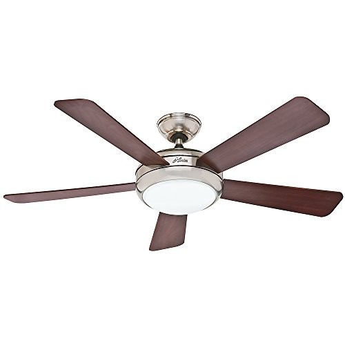 Hunter 59052 Contemporary Palermo Ceiling Fan with Five Cherry/Maple Blades, 52