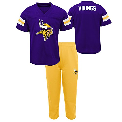 NFL by Outerstuff NFL Minnesota Vikings Toddler Training Camp Short Sleeve Top & Pant Set Regal Purple, (Nfl Camp Shirt)