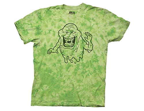 Official Ghostbusters Slimer Tie Dye T-shirt, S to 3XL