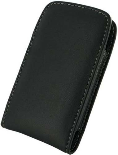 Monaco 28653 Vertical Pouch Type Leather Case for BlackBerry Torch - Retail Packaging - Black (Monaco Blackberry Case)